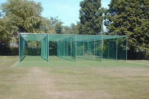 quadruple lane cage and netting