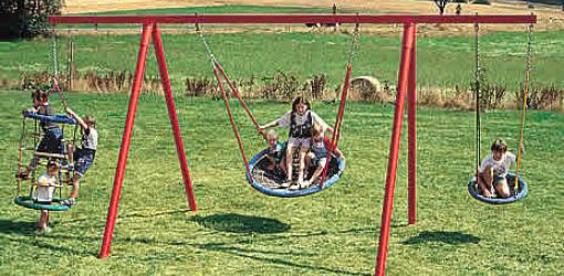 Steel tube swing frame