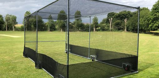 mobile cricket cage with black net