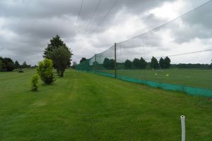 Driving range net installation