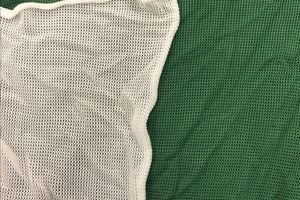 green and white archery netting