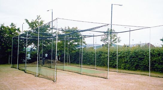heavy duty double bay cage and netting