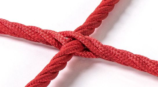 Climbing nets made from Ø 16 mm Hercules rope with cross-stitch joining