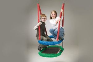Oval rope-ring swing