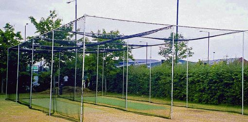 two bay cricket cage