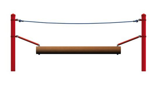 Wobble beam, for steel posts