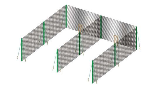 double lane nets and poles