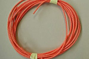 Rope quality in orange