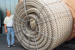 Polypropylene running surface rope