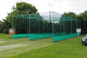2 lane cricket cage netting + anti vermin skirt