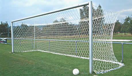 db7307733b7f2 Hexagonal mesh box style senior size football goal nets - Huck