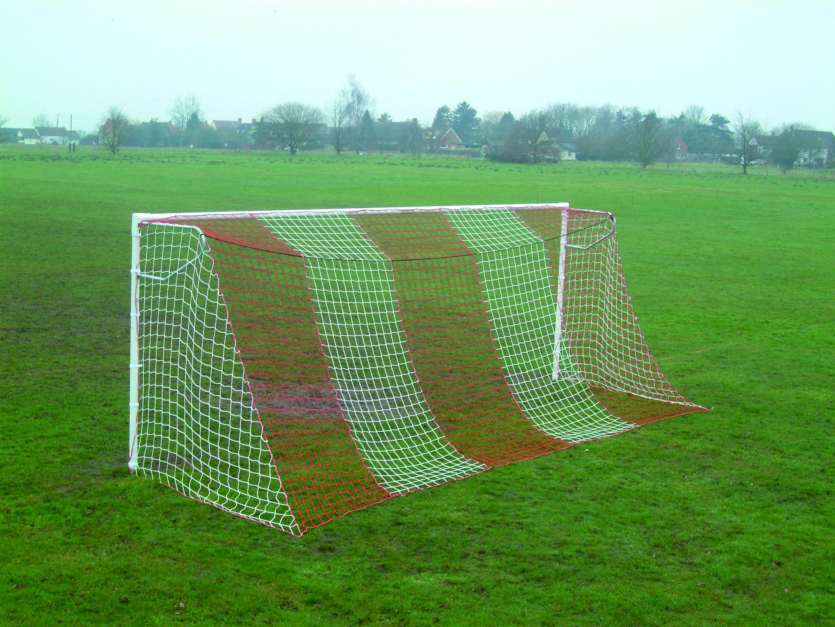 Striped Football Goals Nets Huck