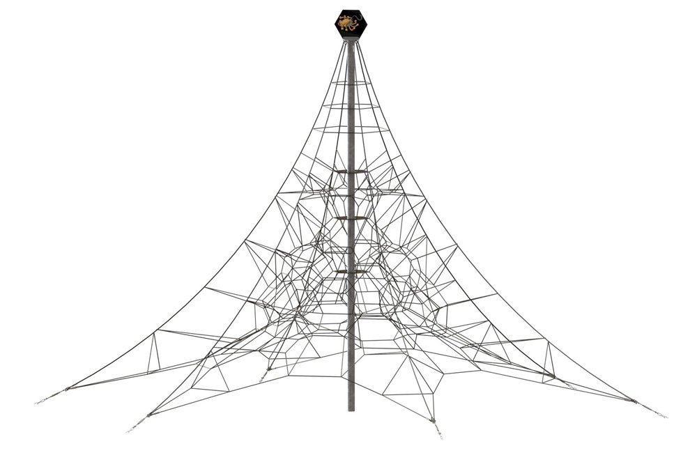 Spider 8 Rope Pyramid With 6 Guy Lines Huck